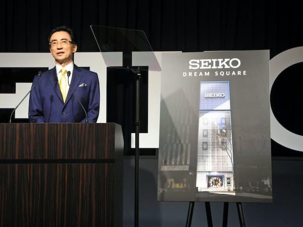 銀座4丁目の新店舗では「グランドセイコー」以外のブランドを前面に打ち出す