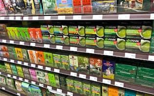 伊藤園は北米で緑茶ティーバッグ販売を強化する(西海岸のアジア系スーパーマーケット)