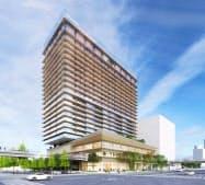 「ウェスティンホテル横浜」を22年に開業する(完成予想図)
