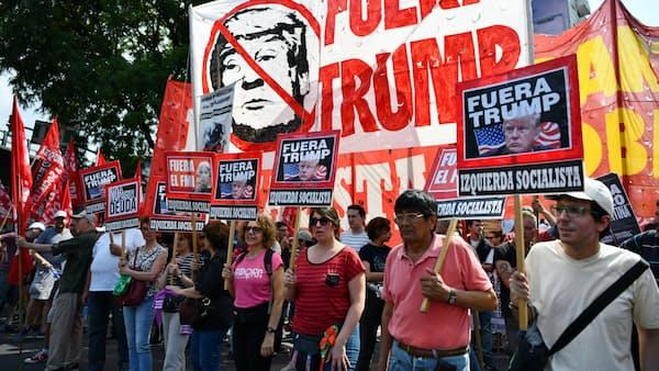 ブエノスアイレスで反G20デモ、サウジ皇太子批判も
