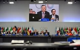 G20首脳会合の本会議(1日、ブエノスアイレス)=ロイター