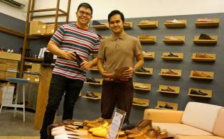 20代の若者が立ち上げた靴屋「マルキナ・シューメーカー」(マカティ市)