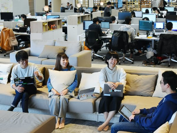 Fringe81はネット広告の配信システムを中核に、事業領域を広げている(東京都港区の本社オフィス)