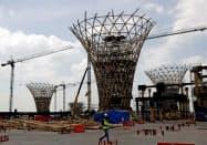 メキシコシティ郊外の新空港の建設は中止された(10月、メキシコ州)=ロイター