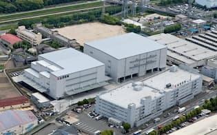 物流量増で倉庫の一時保管需要は高まっている(大阪府の茨木営業所)