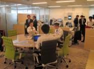 新店はビル上階に居を構える「空中店舗」で法人営業に特化する(5日、大阪府大東市)