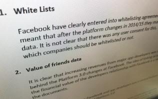 英議会がホームページでフェイスブックの内部資料を公開した