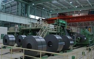 JFEの中国進出は鋼板の生産にとどまった(広州市の合弁工場)