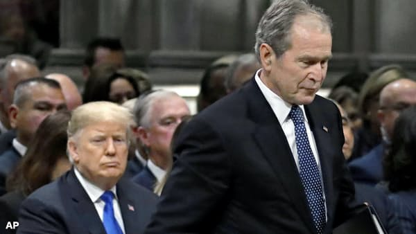 ブッシュ氏国葬、揺らぐ「米国1強」