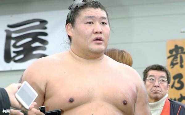貴ノ岩は元横綱日馬富士による傷害事件の被害者だった=共同