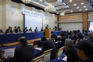 基幹労連は「65歳への定年延長」など、労働環境の改善に向けた考え方をとりまとめた(大津市)