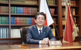 9月の自民党総裁選で3選した安倍首相(自民党本部)