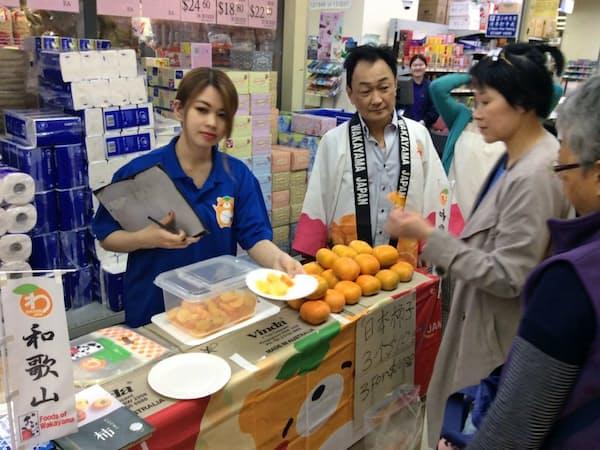 オーストラリアのシドニーで11月に販売した和歌山産の柿は評価が高く完売した