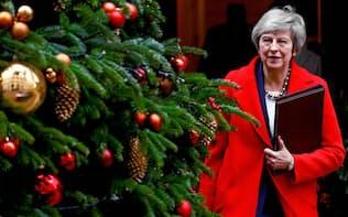 メイ首相が議会で離脱案を可決に導く見通しは暗い=ロイター