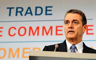 アゼベド事務局長はさらなる貿易摩擦のエスカレーションに危機感を表明している=ロイター