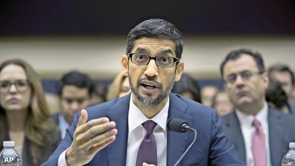 グーグルCEO「中国再参入の計画ない」 米議会で証言
