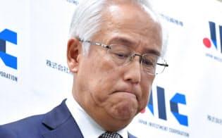 自身や民間出身の取締役全員の辞任を発表した産業革新投資機構の田中正明社長