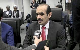 カタールは2019年1月、OPECから脱退する(総会に出席したカタールのアルカービ・エネルギー担当国務相、6日)=AP