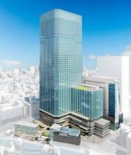 高さ約287メートルの超高層ビルなどを建設する(イメージ)