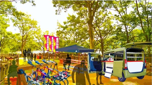 しまなみに移動式休憩所 自転車観光をサポート