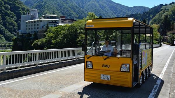 電気バスの電力 事務所で有効活用 北陸電が実験