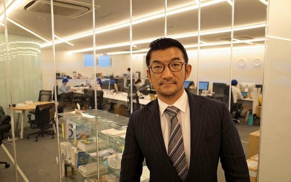 「持続可能性がある事業を興したい」とTBMを起業した(山崎敦義社長
