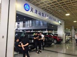 中国で米国からの輸入車の販売は落ちこんだ(天津市の輸入車の卸売市場)