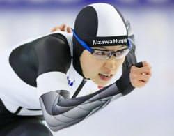 女子500メートルで優勝した小平奈緒(15日、ヘーレンフェイン)=AP