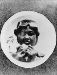 憧れのパイロットにふんする幼少期の本田宗一郎氏