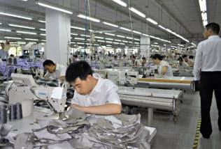 縫製工場に加えて素材工場のリストも公開した(中国の「ユニクロ」取引先工場、2017年撮影)