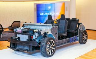 VWがEV専用に開発した共通設計「MEB」。VWは25年までに6兆円分以上の電池を調達する