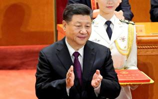 改革開放40年の記念式典で演説した中国の習近平国家主席=ロイター