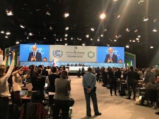 COP24ではパリ協定の実施指針を採択したが……(15日、ポーランド・カトウィツェ)