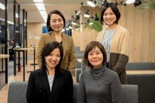 女性管理職育成プランの開発チーム(左上が端羽社長、左下が岡部氏)