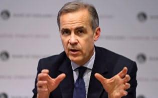 中央銀行も気候変動のリスクを考慮すべきだと提言するイングランド銀行のカーニー総裁=ロイター