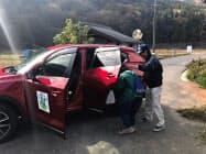 マツダと広島県、三次市の3者がライドシェアサービスの実証実験を始めた(三次市内の川西地区)