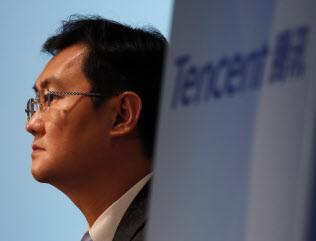 馬化騰CEO率いるテンセントの時価総額は1年で約14兆円減った=ロイター