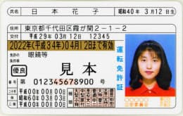 西暦と元号を併記した新しい免許証=警察庁提供