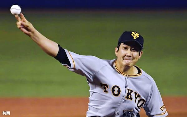 菅野は来季の目標に20勝、再び全基準を満たしての3年連続沢村賞受賞を挙げた=共同
