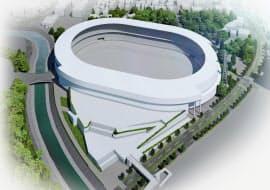 改築する瑞穂公園陸上競技場のイメージ写真(観客席3万席の案)=名古屋市提供