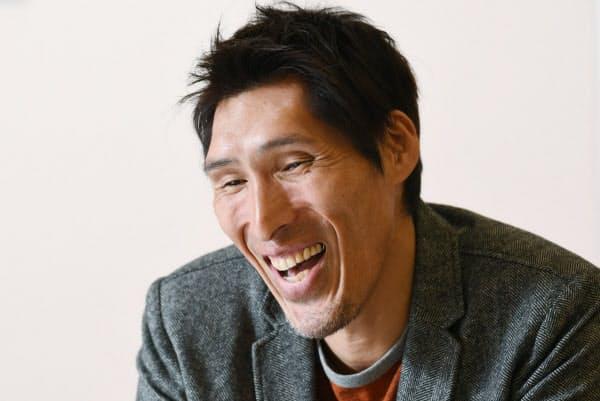「柔道から離れて初めて柔道を話せた」と語る篠原信一(2018年12月、大阪市内のホテルで)