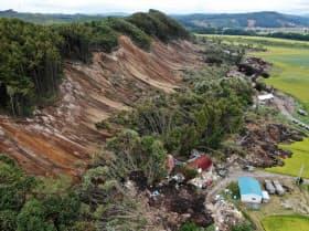 2018年9月の胆振東部地震での北海道厚真町吉野地区の土砂災害現場