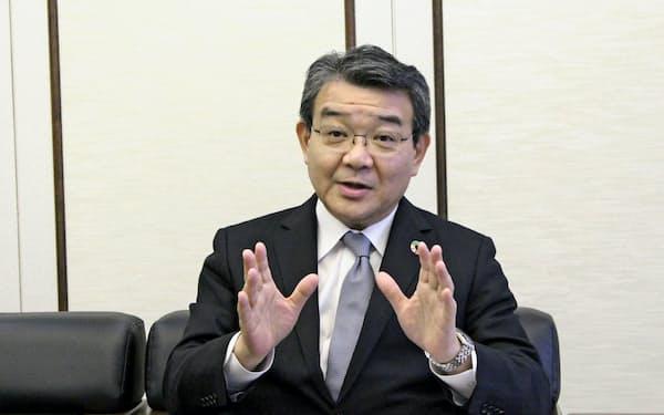 関西みらいフィナンシャルグループの菅哲哉社長