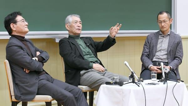 ノーベル賞学者2人が学生にエール 京大座談会開催
