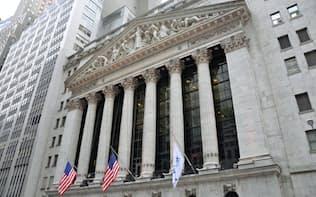 連日、株価の急変動が続くニューヨーク証券取引所