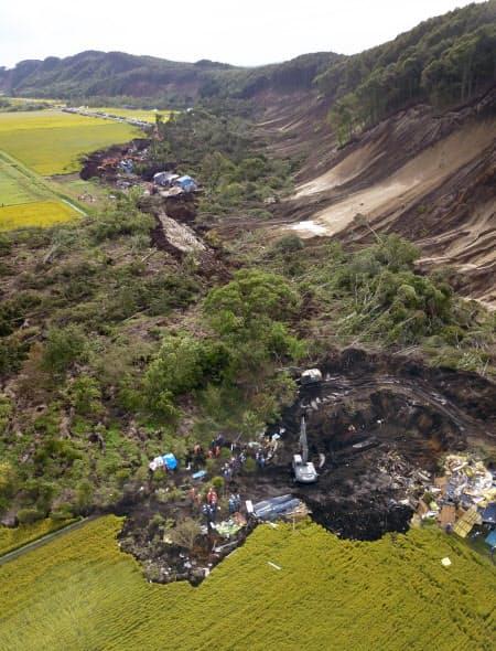 北海道厚真町は地震で36人の犠牲者を出した
