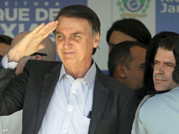 ブラジル新大統領に就任するジャイル・ボルソナロ氏=AP