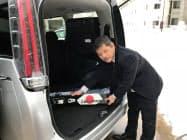 バックカントリー用スキーが積み込める車を用意する(トヨタレンタリース新青森駅西口店)