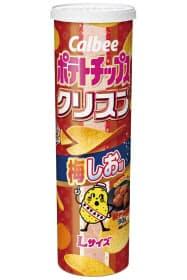 カルビーが発売した「ポテトチップスクリスプ 梅しお味」