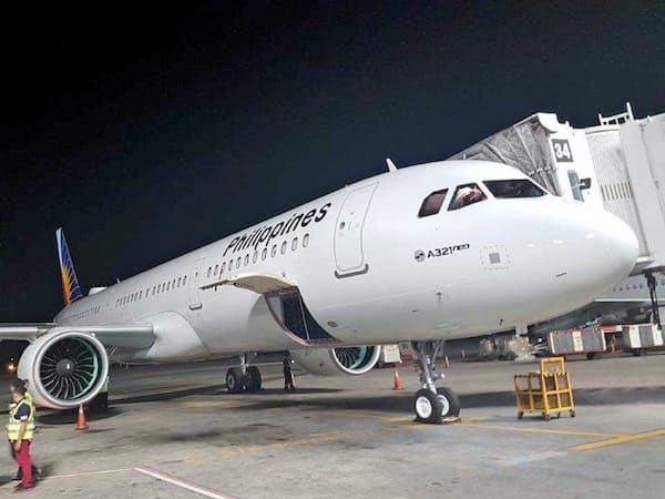 フィリピン航空がニューデリー線に投入するエアバス製旅客機